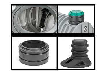 Snyder Industries poly tank fittings tees, risers, and accessories