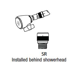 Dole Valves SR Showerhead flow regulator