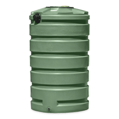 Bushman 205 Gallon Round Rainwater Harvesting Tank in Forest Green