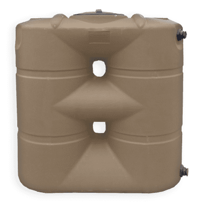 Bushman USA 265 Gallon Slimline water storage tank in mocha