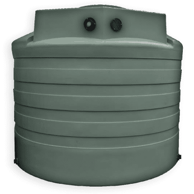 Bushman 2650 Gallon Rainwater Harvesting Tank in Forest Green