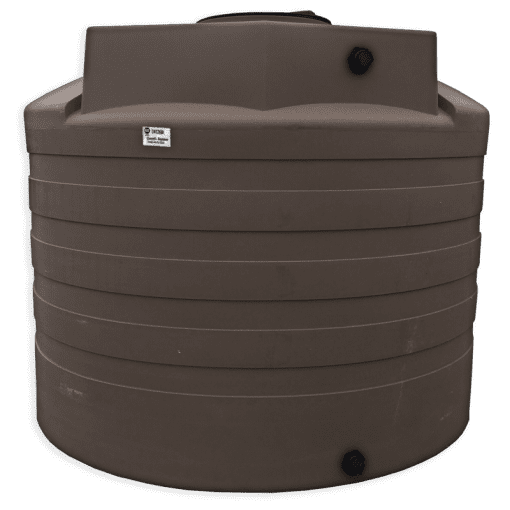 Bushman 2650 Gallon Water Storage Tank in Mocha
