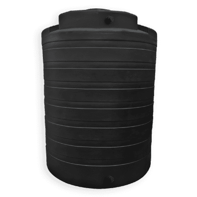 Bushman 4050 Gallon Water Storage Tank in Black