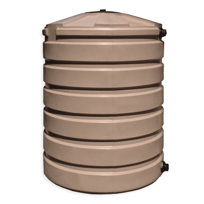 Bushman 420 Gallon Plastic Water Storage Tank in Mocha