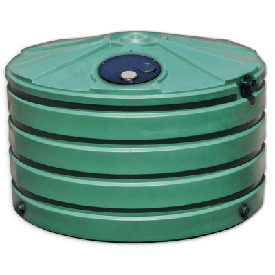 Bushman 660 Gallon Low Profile Plastic Rainwater Harvesting Tank Green