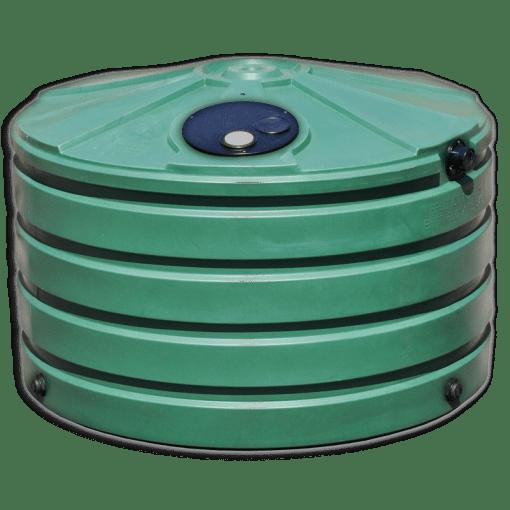 Bushman 660 Gallon Low Profile Plastic Rainwater Harvesting Tank Green