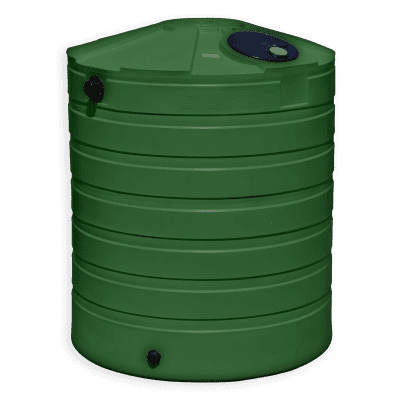 Bushman 865 Gallon Round Rainwater Harvesting Tank in Forest Green