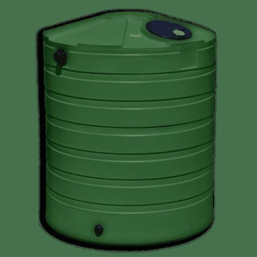 Bushman 865 Gallon Round Rainwater Harvesting Tank in Forest Green