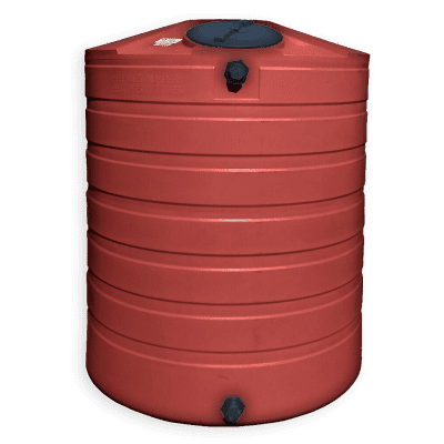 Bushman 865 Gallon Plastic Round Water Storage Tank in Brick