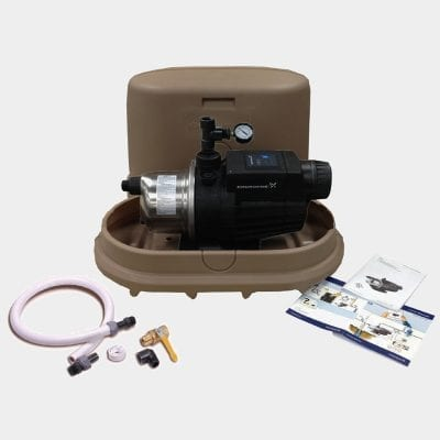 Bushman 1hp 68PSI Pump with Matching Cover and Connection Kit in Mocha