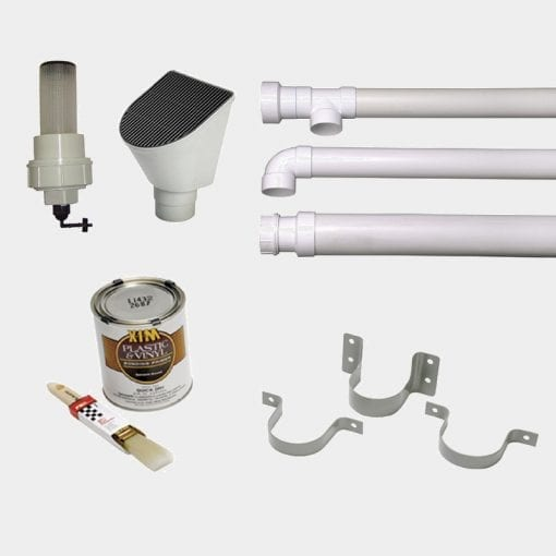 Parts in the First Flush Connection Kit from Bushman